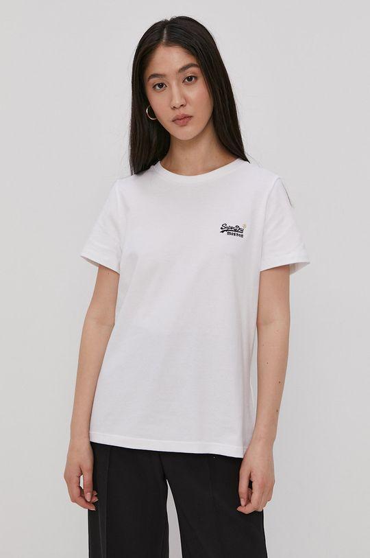 bílá Superdry - Bavlněné tričko Dámský