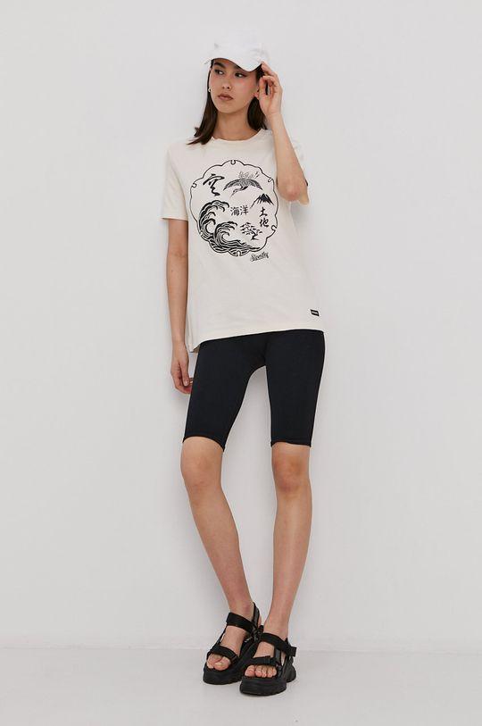 Superdry - T-shirt kremowy