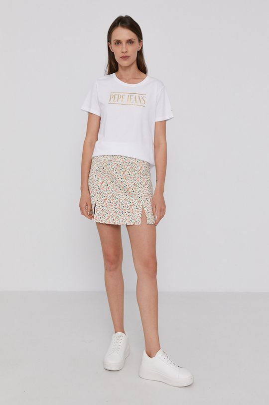 Pepe Jeans - T-shirt bawełniany BLANCA biały