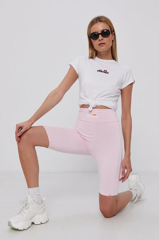 Ellesse - Bavlněné tričko bílá