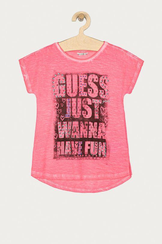 ružová Guess - Detské tričko 116-176 cm Dievčenský