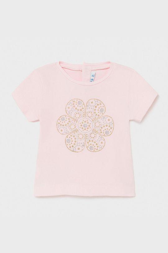 pastelová ružová Mayoral - Detské tričko Dievčenský