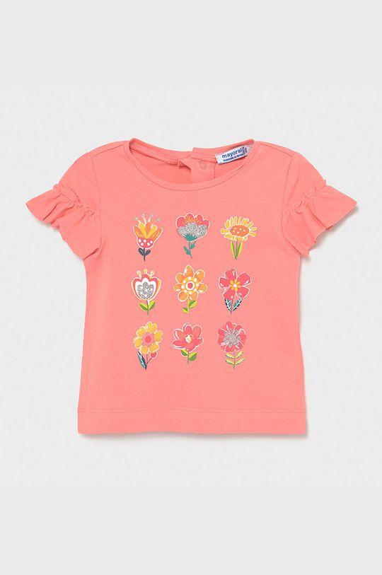 sýto ružová Mayoral - Detské tričko Dievčenský