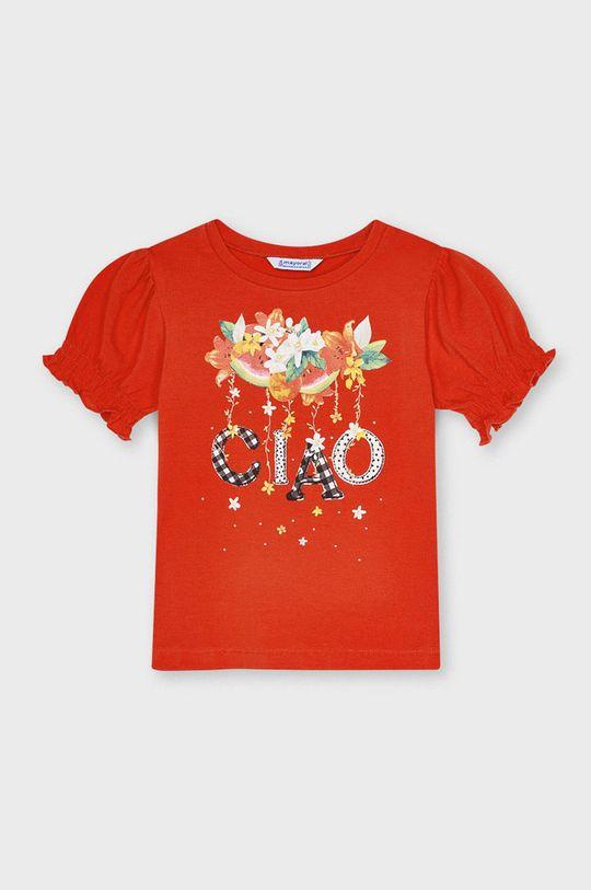 červená Mayoral - Detské tričko Dievčenský