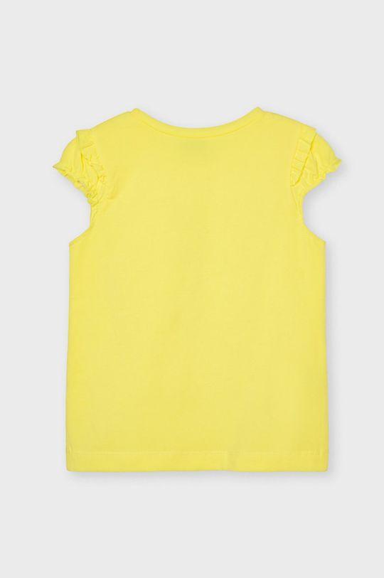 Mayoral - T-shirt dziecięcy jasny żółty