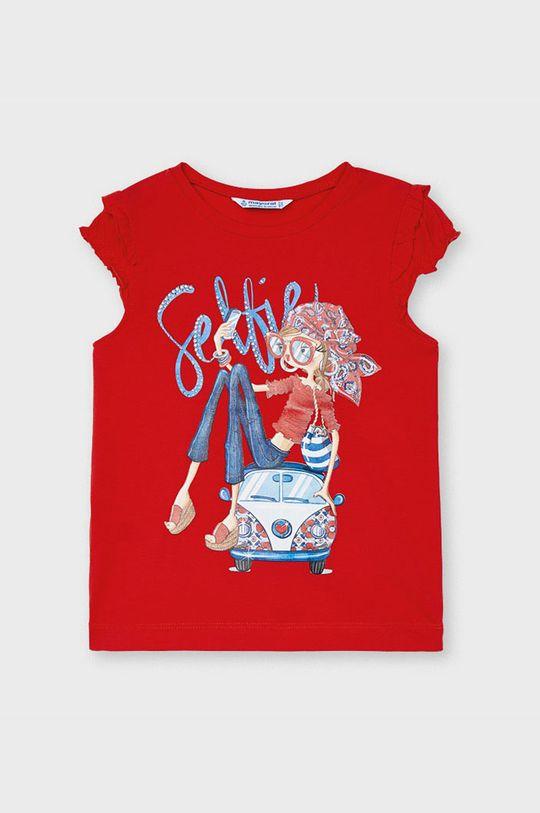 sýtočervená Mayoral - Detské tričko Dievčenský