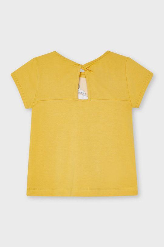 Mayoral - T-shirt dziecięcy musztardowy