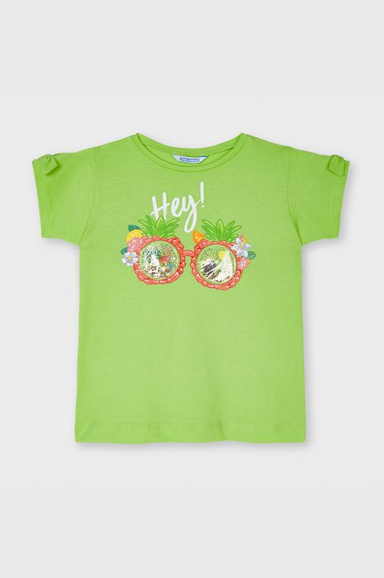 bledozelená Mayoral - Detské tričko Dievčenský