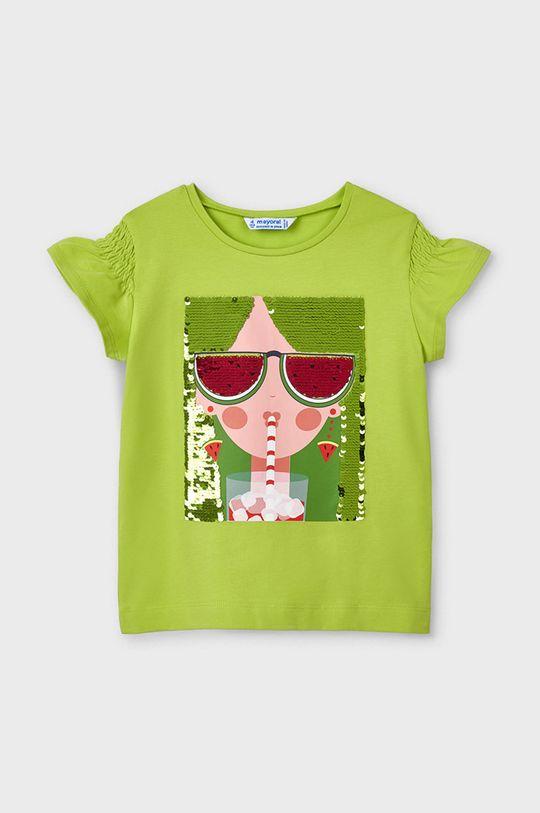 blady zielony Mayoral - T-shirt dziecięcy Dziewczęcy