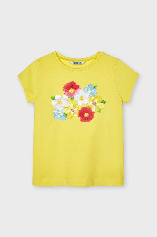 żółty Mayoral - T-shirt dziecięcy Dziewczęcy