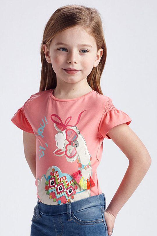 różowy Mayoral - T-shirt dziecięcy Dziewczęcy