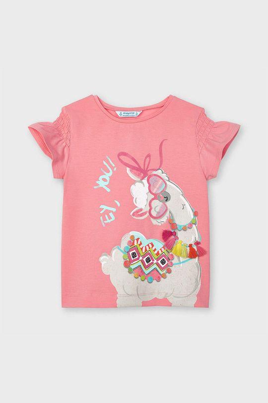 Mayoral - T-shirt dziecięcy różowy
