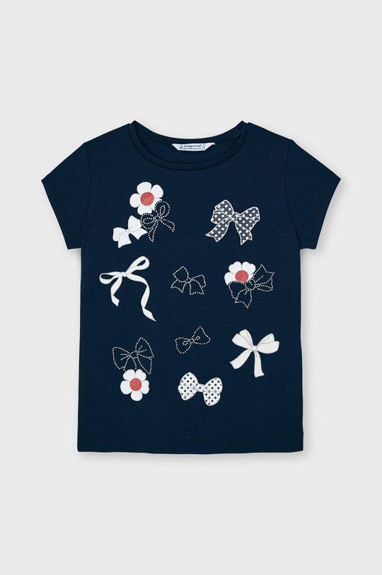 granatowy Mayoral - T-shirt dziecięcy Dziewczęcy