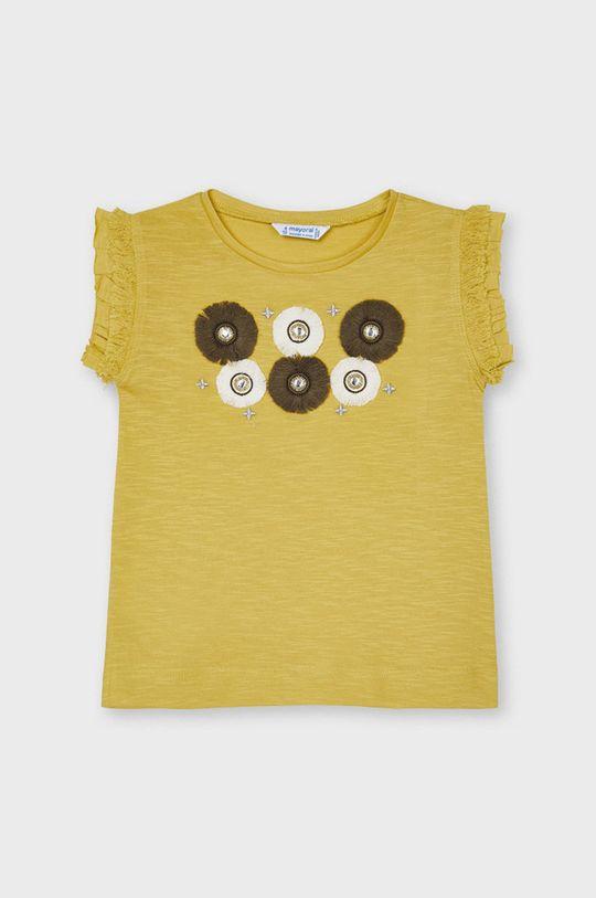 svetlo oranžová Mayoral - Detské tričko Dievčenský