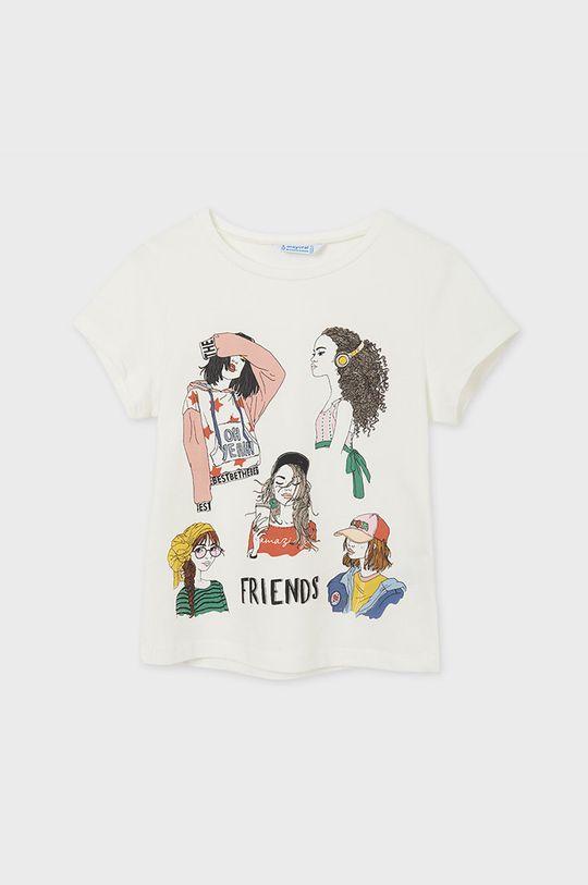 Mayoral - Detské tričko krémová