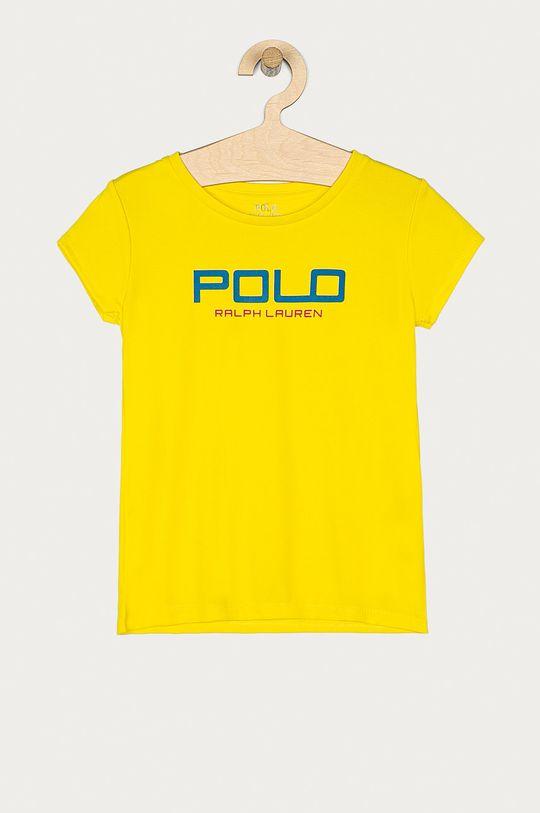 jasny żółty Polo Ralph Lauren - T-shirt dziecięcy 128-176 cm Dziewczęcy
