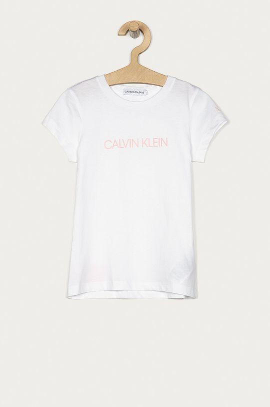 biały Calvin Klein Jeans - T-shirt dziecięcy 104-176 cm Dziewczęcy