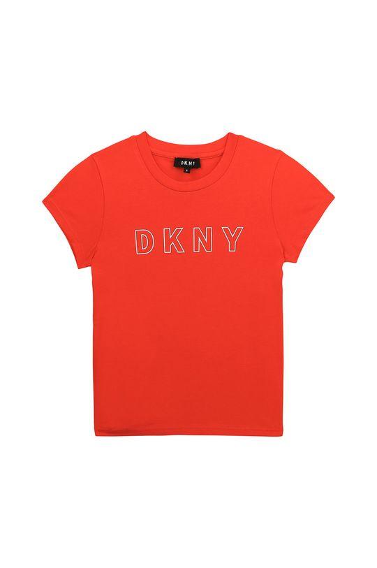 koralowy Dkny - T-shirt dziecięcy 156-162 cm Dziewczęcy