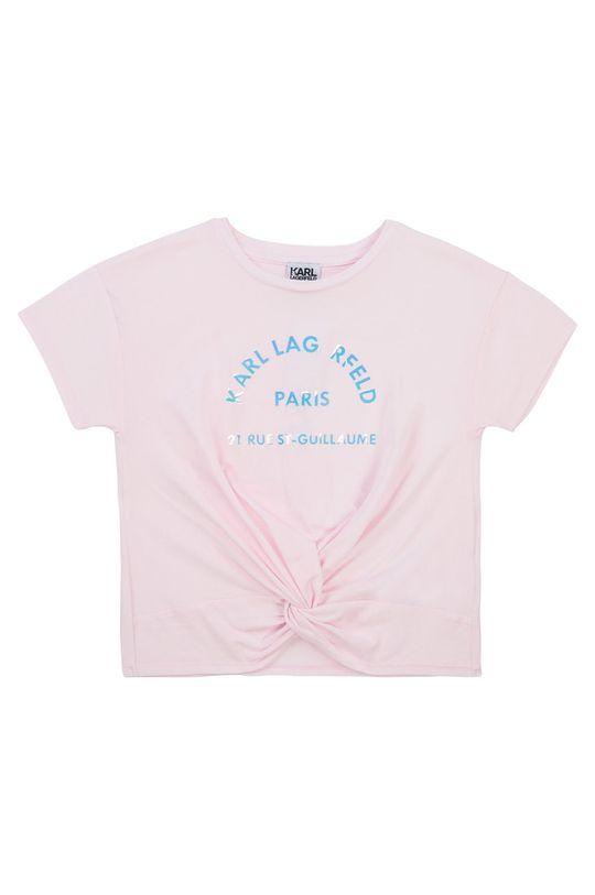 pastelově růžová Karl Lagerfeld - Dětské tričko Dívčí