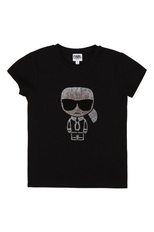 černá Karl Lagerfeld - Dětské tričko Dívčí