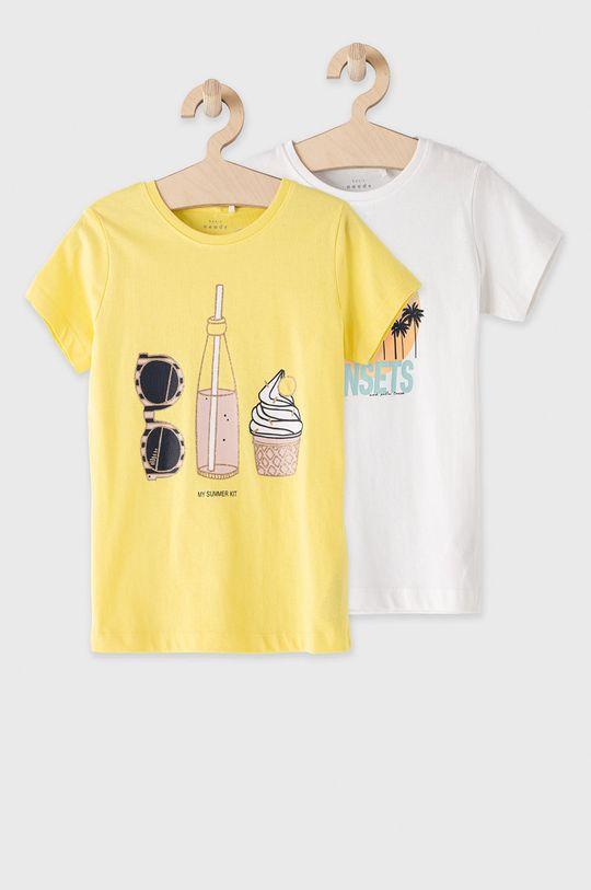żółty Name it - T-shirt dziecięcy 122-164 cm (2-pack) Dziewczęcy