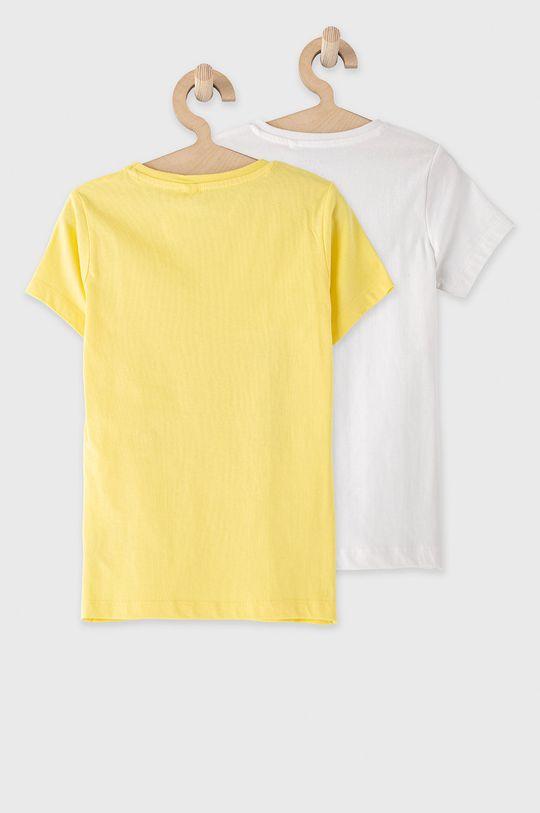 żółty Name it - T-shirt dziecięcy 122-164 cm (2-pack)