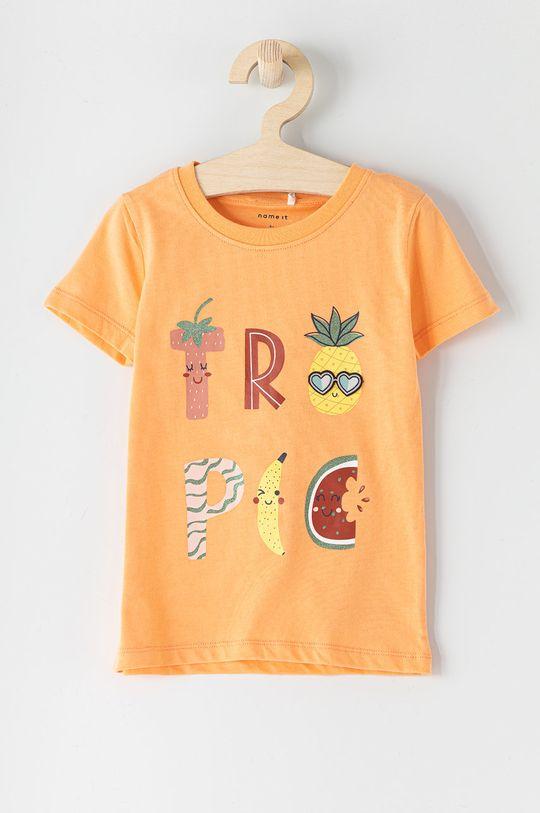 brzoskwiniowy Name it - T-shirt dziecięcy Dziewczęcy