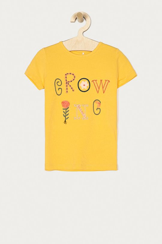 žltá Name it - Detské tričko 92-128 cm Dievčenský