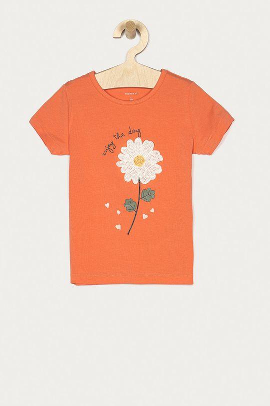 pomarańczowy Name it - T-shirt dziecięcy 92-128 cm Dziewczęcy