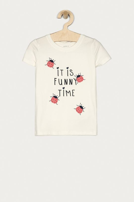 biały Name it - T-shirt dziecięcy 86-110 cm Dziewczęcy