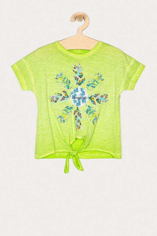 żółto - zielony Desigual - T-shirt dziecięcy 104-164 cm Dziewczęcy