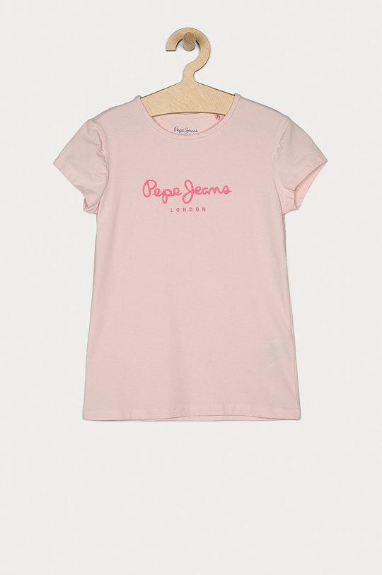 pastelově růžová Pepe Jeans - Dětské tričko Hana 104-180 cm Dívčí