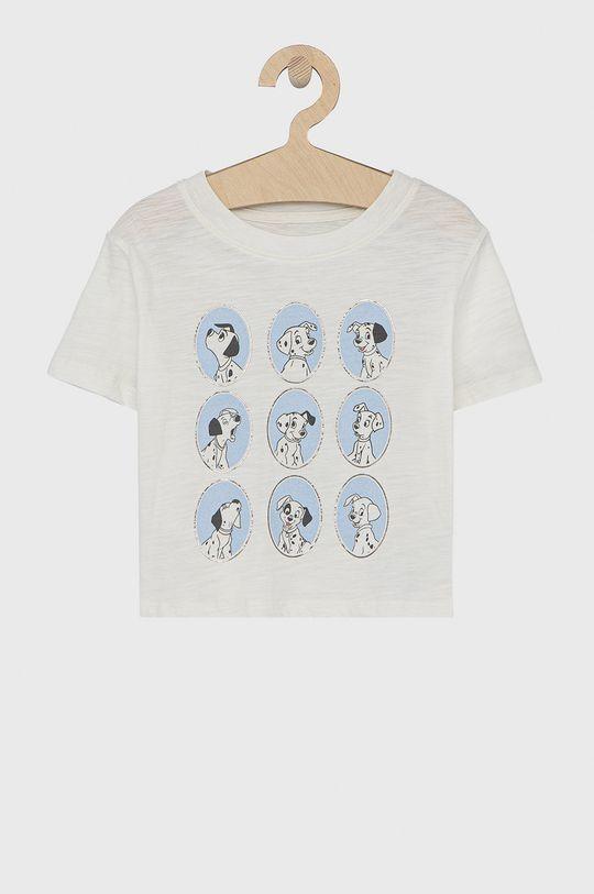 biały GAP - T-shirt bawełniany dziecięcy x Disney Dziewczęcy