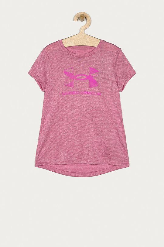 ostrá růžová Under Armour - Tričko Dívčí