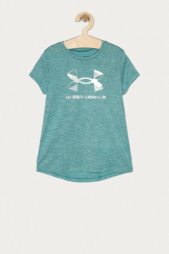 ocelová modrá Under Armour - Tričko Dívčí