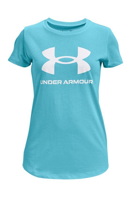 turkusowy Under Armour - T-shirt dziecięcy 127-170 cm Dziewczęcy