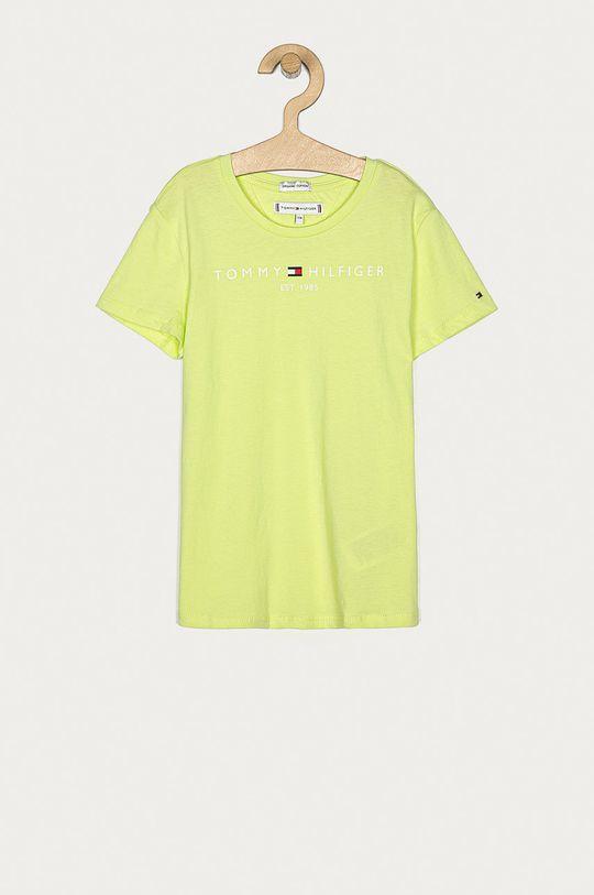 žlto-zelená Tommy Hilfiger - Detské tričko 74-176 cm Dievčenský