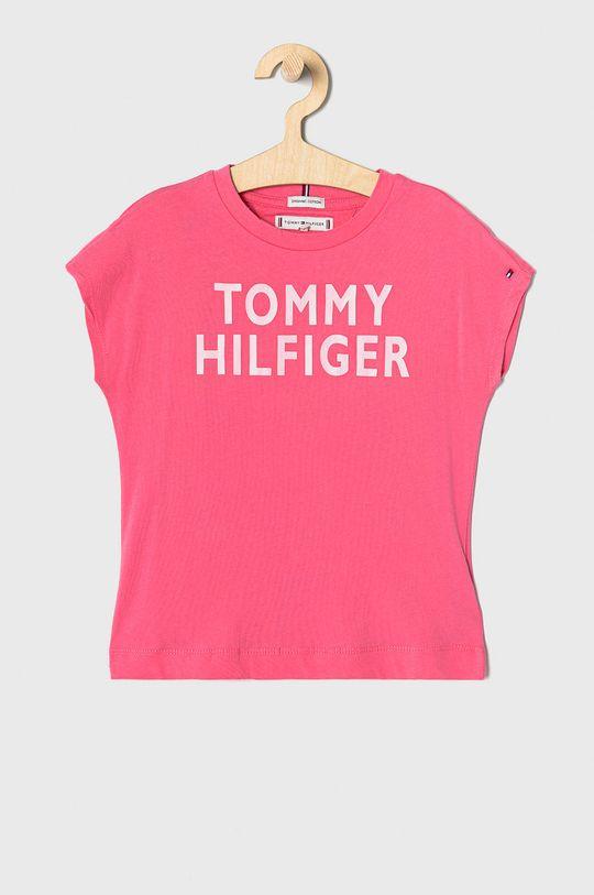orchidea Tommy Hilfiger - T-shirt dziecięcy 98-176 cm Dziewczęcy