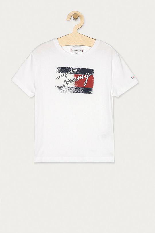 biały Tommy Hilfiger - T-shirt dziecięcy 104-176 cm Dziewczęcy