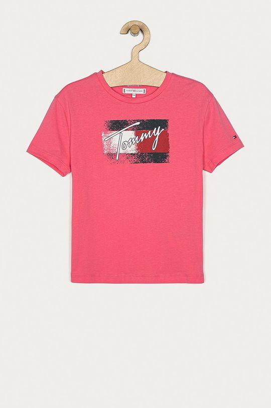 bledofialový Tommy Hilfiger - Detské tričko 104-176 cm Dievčenský