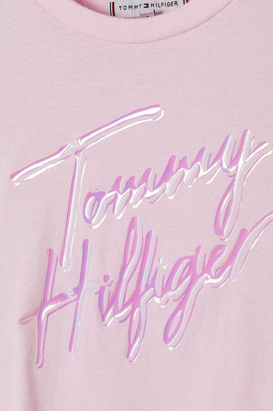Tommy Hilfiger - T-shirt dziecięcy 104- 176 cm pastelowy różowy