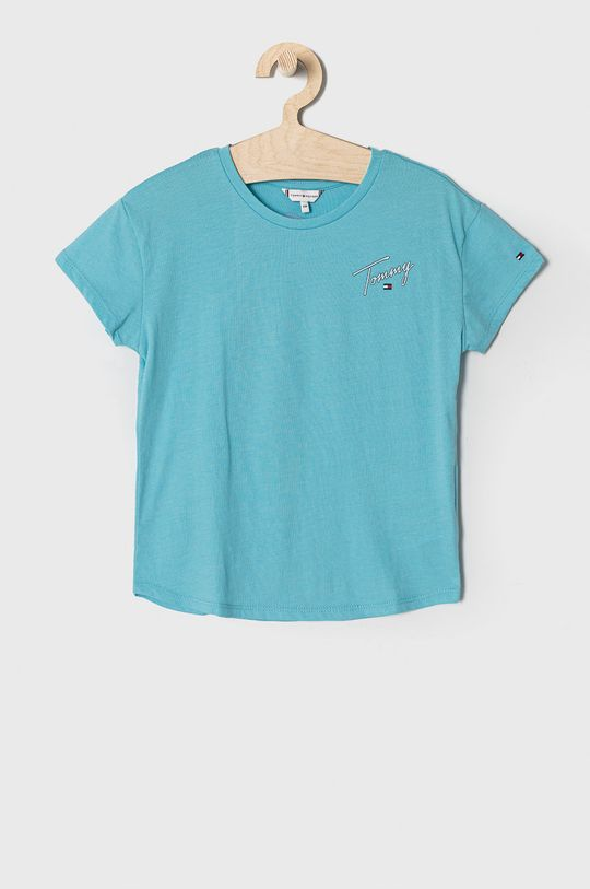 niebieski Tommy Hilfiger - T-shirt dziecięcy 104-176 cm Dziewczęcy