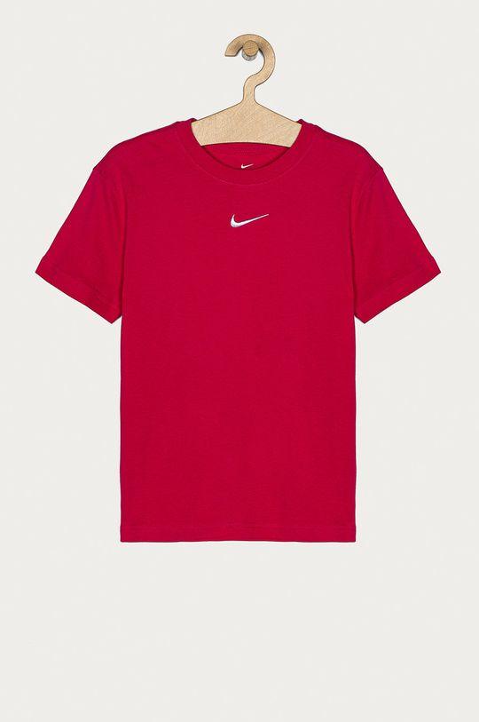 fuksja Nike Kids - T-shirt dziecięcy 122-166 cm Dziewczęcy
