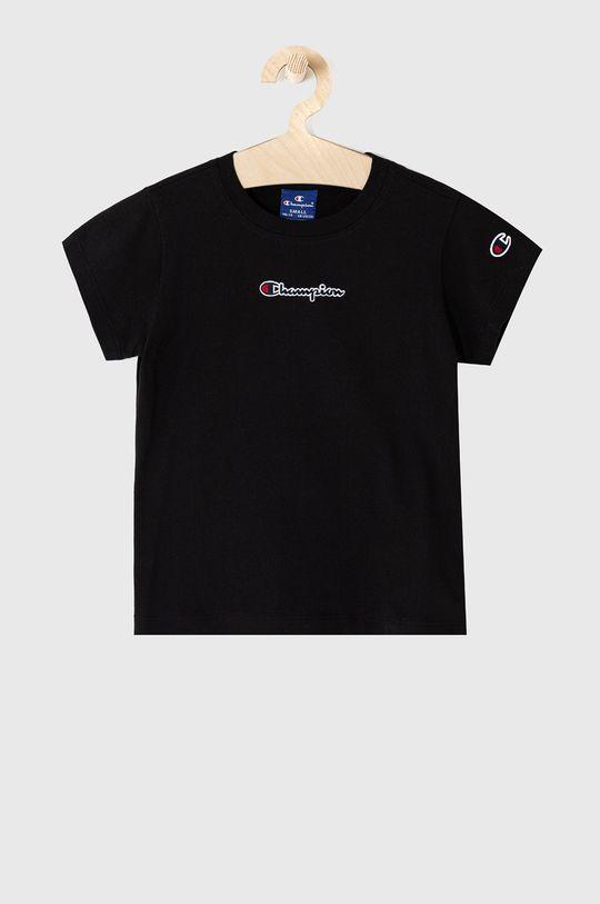 czarny Champion - T-shirt dziecięcy 102-179 cm Dziewczęcy