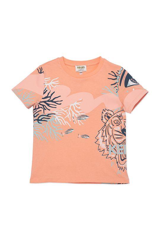 brzoskwiniowy KENZO KIDS - T-shirt dziecięcy Dziewczęcy