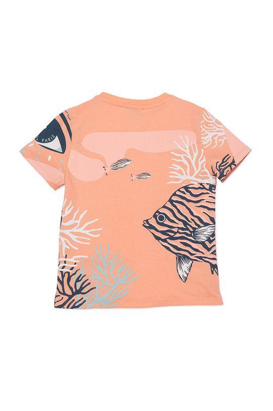 KENZO KIDS - T-shirt dziecięcy brzoskwiniowy