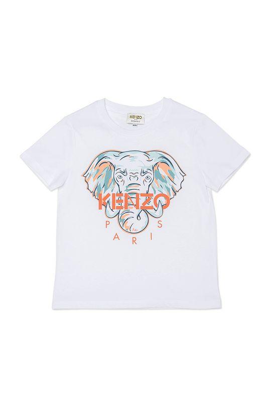 biały KENZO KIDS - T-shirt dziecięcy Dziewczęcy