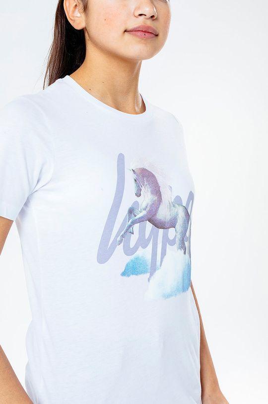 biela Hype - Detské tričko UNICORN SCRIPT