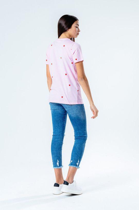 Hype - T-shirt dziecięcy HEART REPEAT 100 % Bawełna