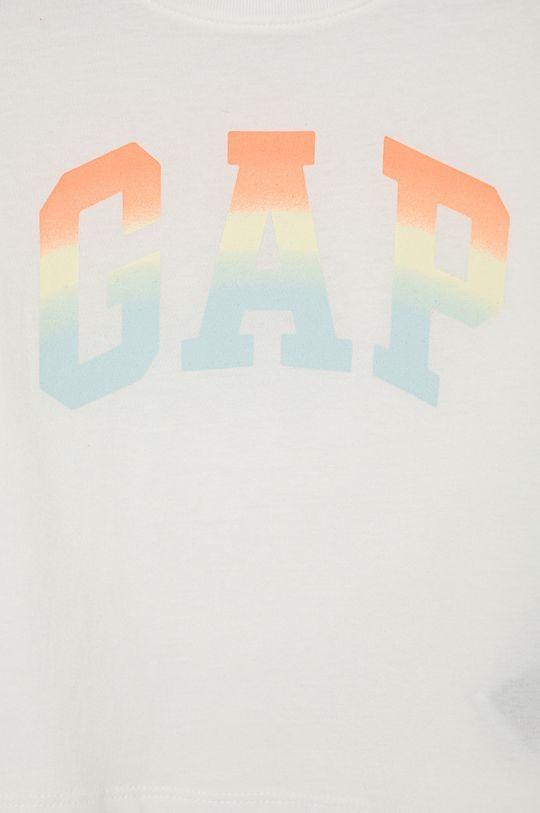 GAP - T-shirt bawełniany dziecięcy biały
